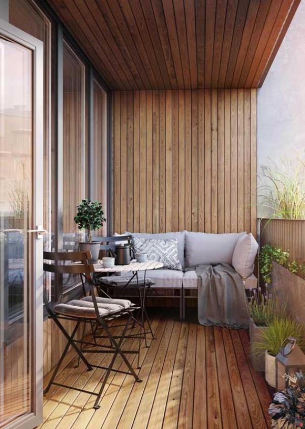 moderne luxuriönse Inneneinrichtung - Balkon-Sofa