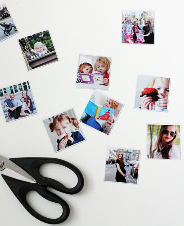 muttertagsgeschenke diy ideen fotogeschenke kühlschrankmagnete selber machen