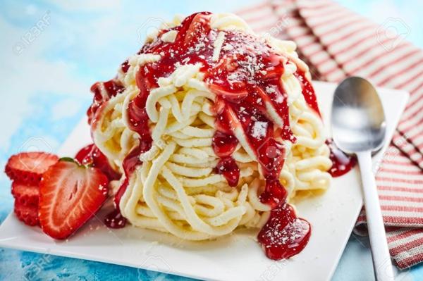 Ausgefallene Eissorten aus aller Welt verrückte Eissorten Spaghettieis Deutschland