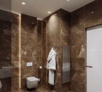 Ein Badezimmer in Braun ist voller Wärme, Luxus und Stil