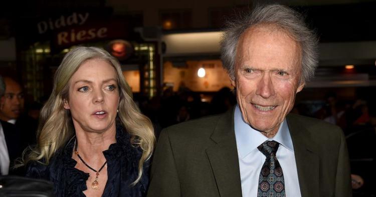 Clint Eastwood 90 Jahre alt eine lebende Film-Legende acht Kinder hier mit Alison Eastwood