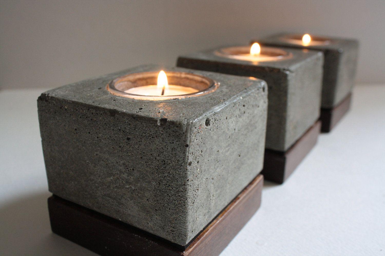 DIY Ideen - quadratische Ideen - Kerzenhalter selber machen