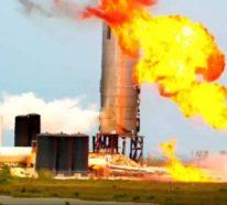Der Raketenprototyp Starship SN4 von SpaceX explodiert während Test