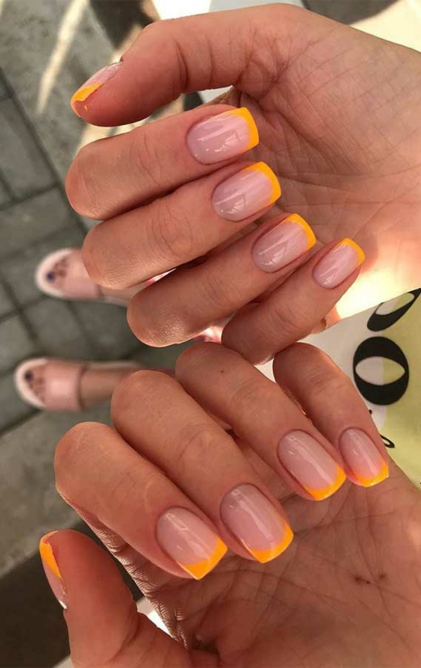 Kurze Gelnägel Vorteile Nageldesign Ideen French Nails