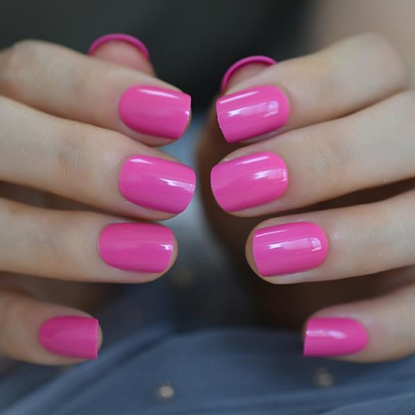 Kurze Gelnägel Vorteile Nageldesign Ideen Nagelfarbe Pink