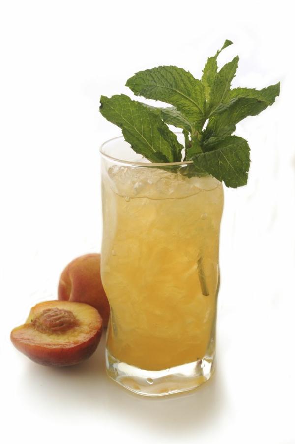 Mocktail Rezepte alkoholfreie Cocktails Rezepte Ginger Peach Soda