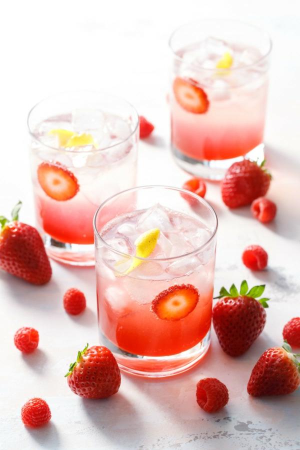 Mocktail Rezepte alkoholfreie Cocktails Rezepte mit Erdbeeren