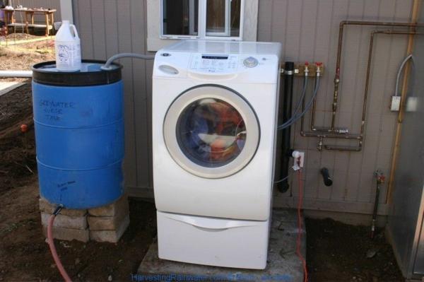 Regenwasser nutzen Wäsche waschen Waschmaschine