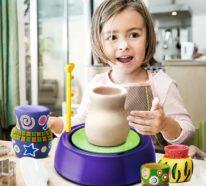Töpfern mit Kindern bietet viele Vorteile für die Entwicklung der Kleinen