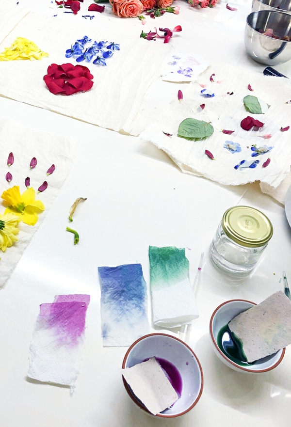 Tataki Zomé japanische Technik Materialien Pflanzen und Blumen
