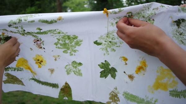 Tataki Zomé japanische Technik Pflanzen und Blumen hammern