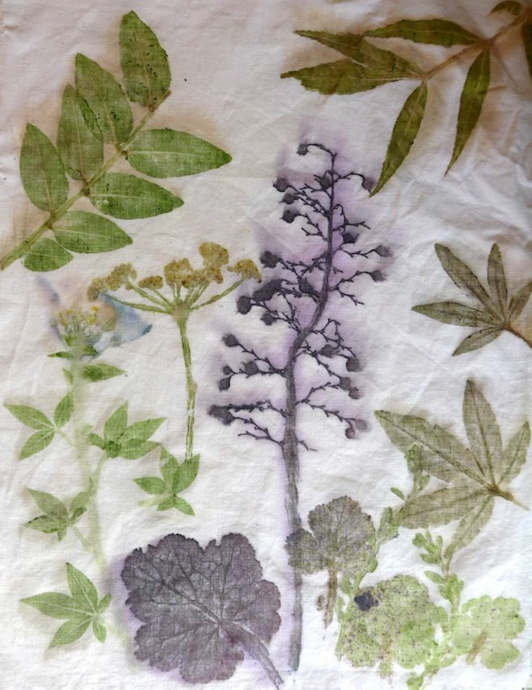 Tataki Zomé japanische Technik Pflanzen und Blumen