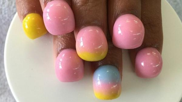 bubble gum verückte nageldesign ideen