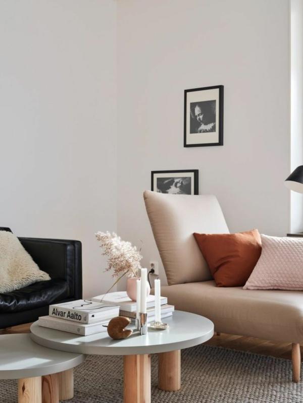 dezente tischdeko wohnzimmer pampasgras trendpflanze
