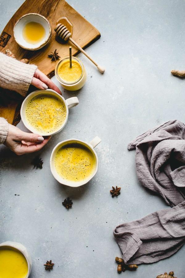 golden milk mit erbsenmilch