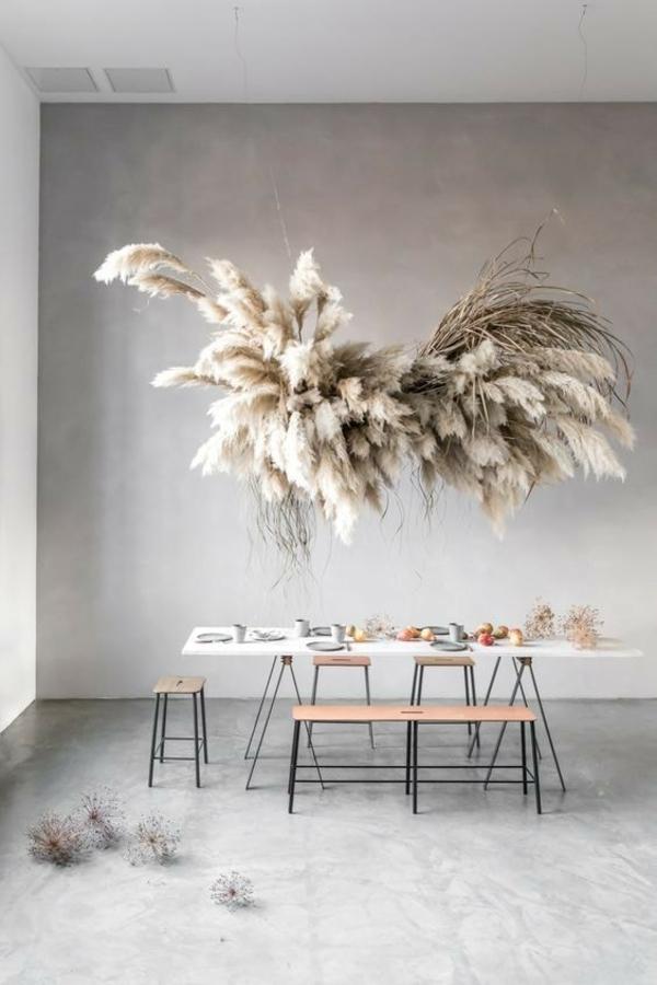 herrliche dekoration mit pampasgras
