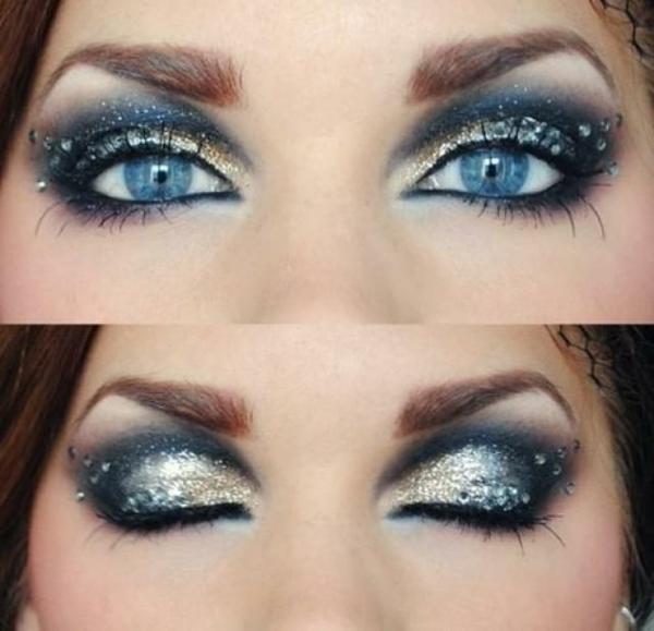 hochzeit make up blaue augen schminken