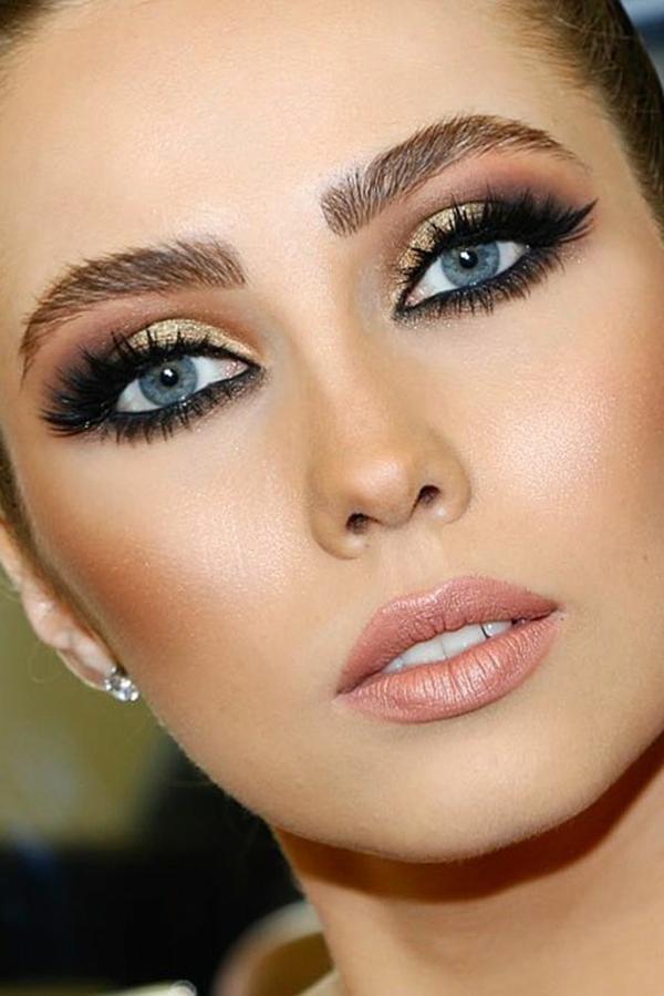 hochzeitsschminke blaue augen schminken