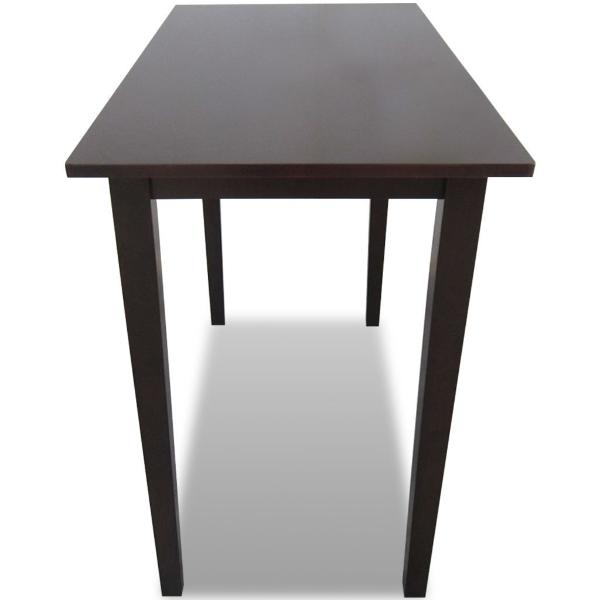 holztisch reinigen - ein schwarzer tisch