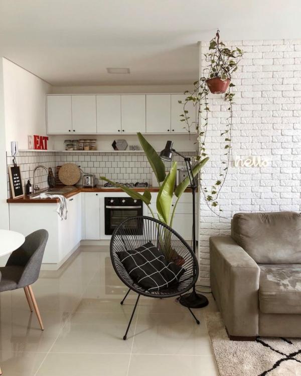 küche wohzimmer einrichten acapulco stuhl schwarz