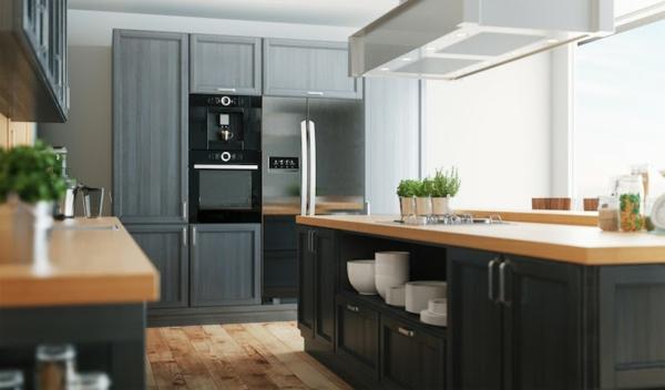 küchentrends 2020 anthrazit fronten moderne küchengestaltung
