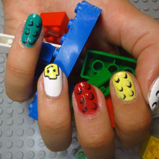 kreative lego nägel nageltrends