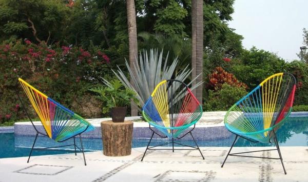 kunterbunte acapulco stühle sommerliche einrichtung