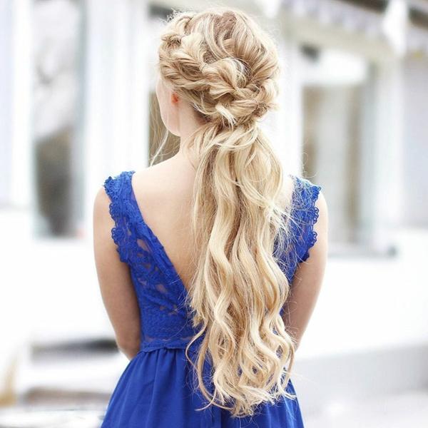 lockere frisur lange haare