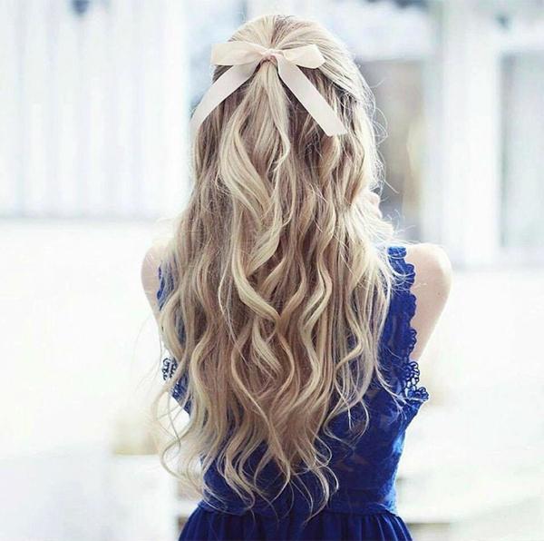 lockere wellenfrisur lange haare