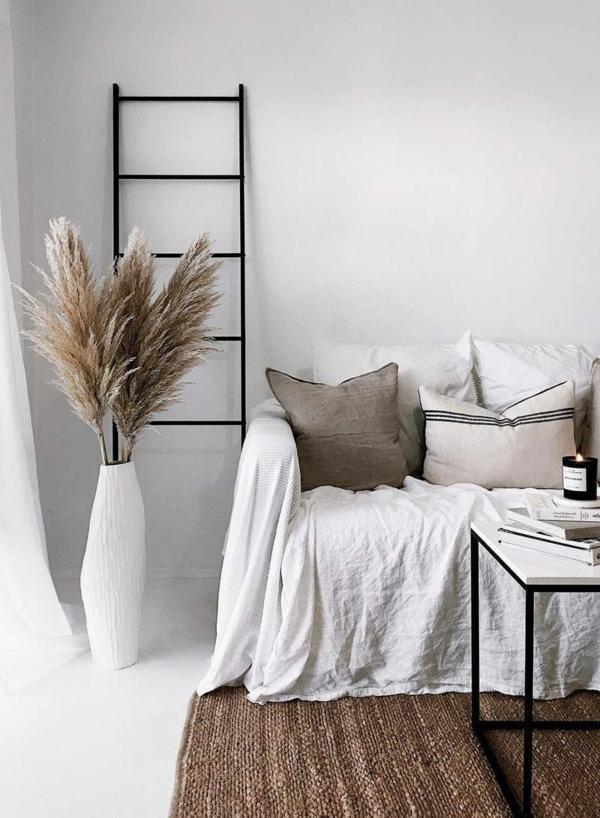 pampasgras dekoration ideen wohnzimmer