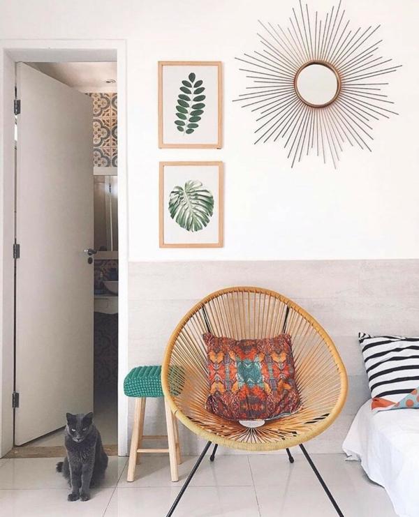 rattan acapulco stuhl schlafzimmer einrichten