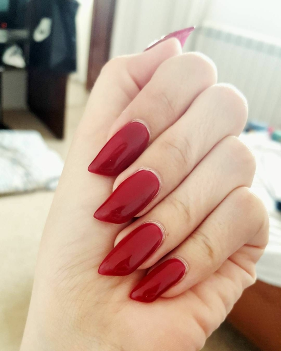 rote lipstick nails nageltrends 2020