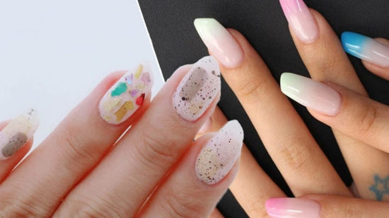 sommerliche nageltrends lipstick nails