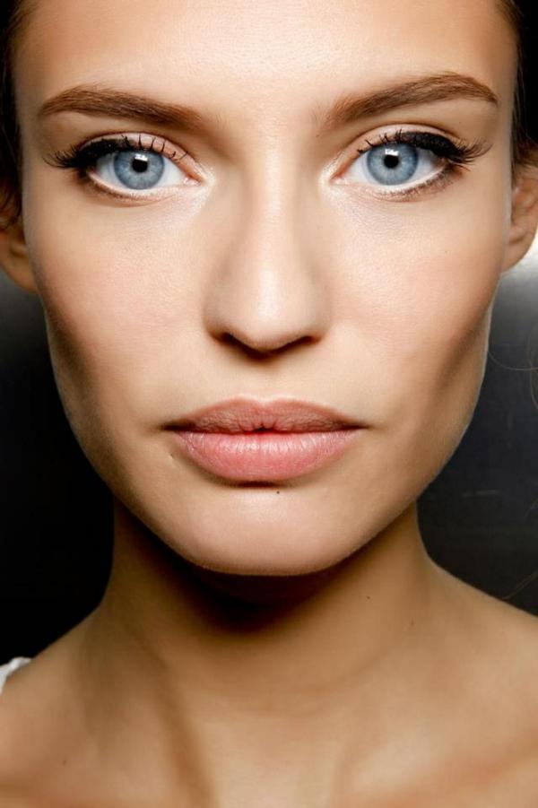 tages make up blaue augen schminken
