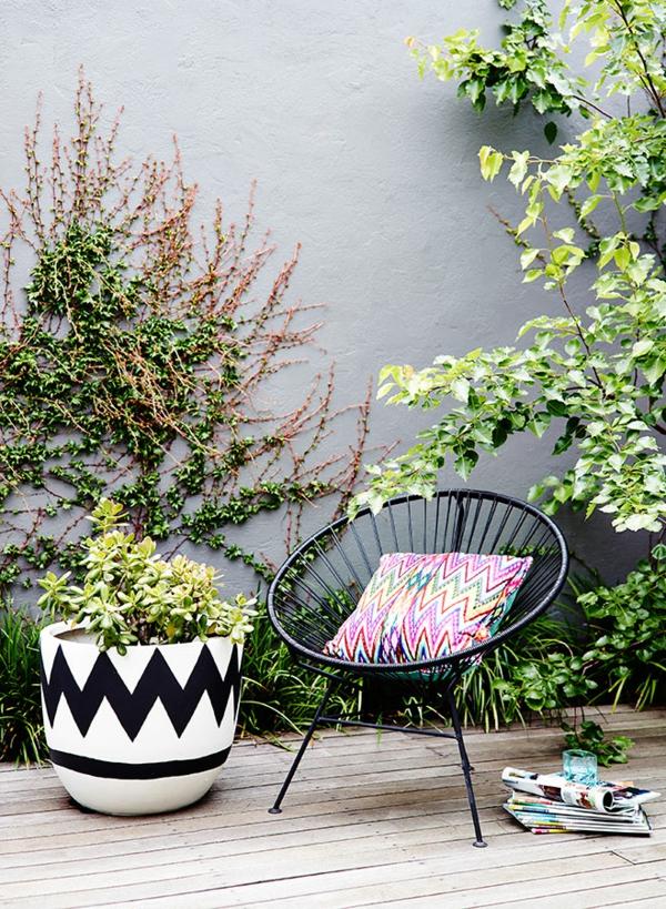 terrasse einrichten acapulco stuhl schwarz