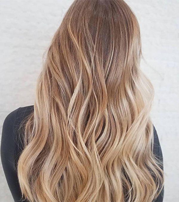 toffee blond moderne haarfarbe