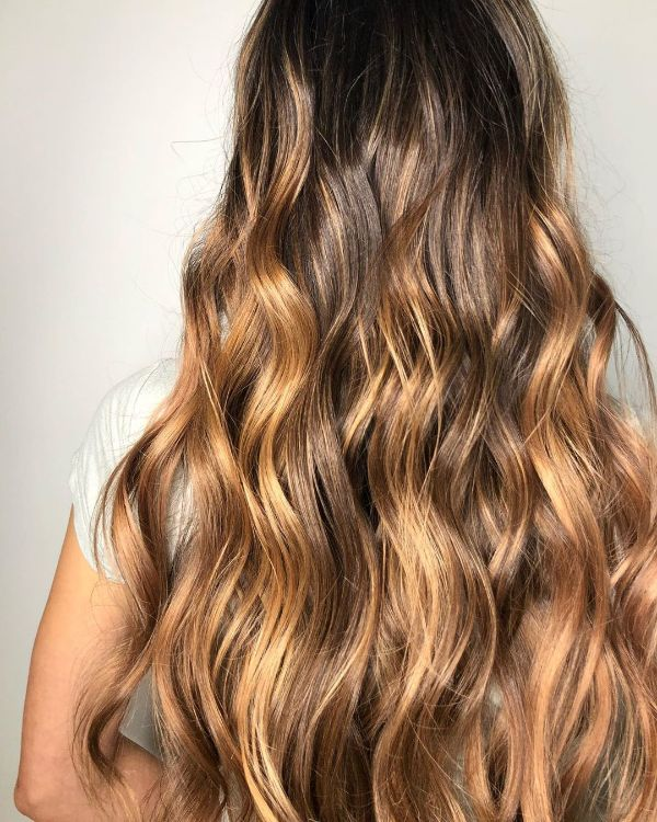 toffee blond ombre ideen