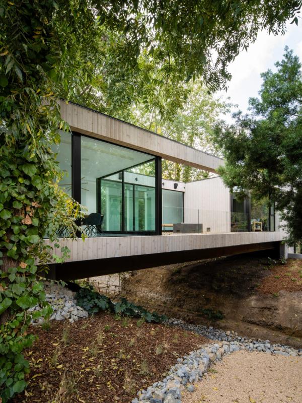 traumhaus fassade naturgarten ideen
