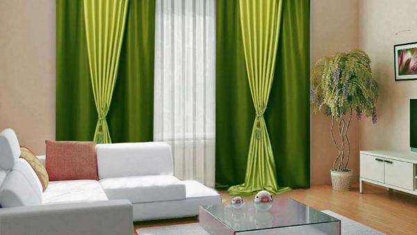 verschiedene grüne Farben - Gardinen Trends
