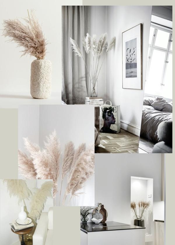 wohntrends dekorieren mit pampasgras