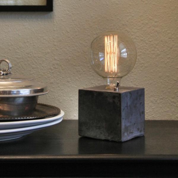 Betonlampe Tischlampe Designerlampen Beton