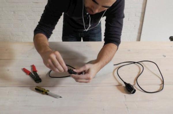 Betonlampe selber machen Anleitung DIY Pendelleuchte