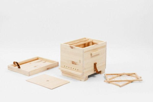 Bienenstock bauen Bienenbeute aus Holz
