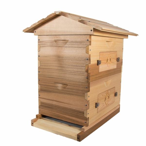 Bienenstock bauen Holz Bienenbeute selber bauen