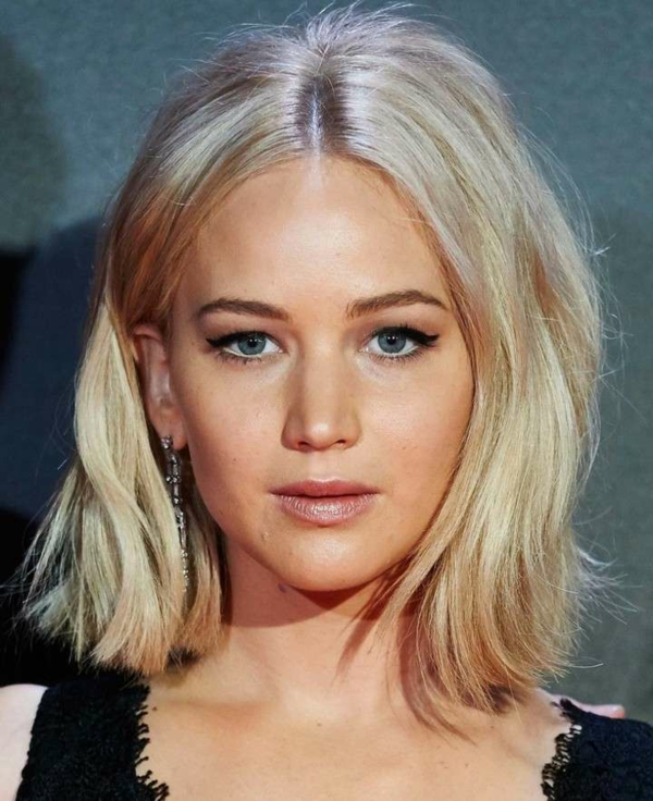 Bubikopf Frisur Clebrities Jennifer Lawrence