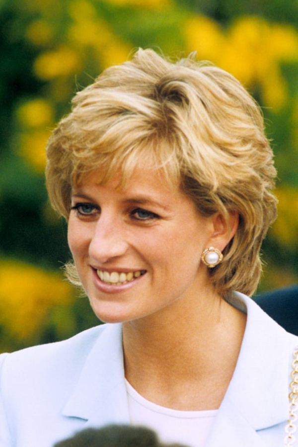 Bubikopf Frisur Clebrities Kurzhaarfrisuren Princess Diana