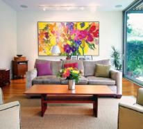 33 Farbenfrohe Dekoideen fürs Wohnzimmer für mehr sommerlichen Charme zuhause