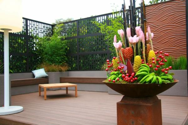 Den Wintergarten aufpeppen Mit Terrassensichtschutz