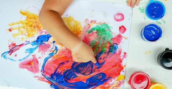 Fingermalen Vorteile Fingerfarben selber machen
