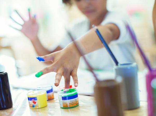 Fingermalfarben Kinder Fingerfarben selber machen